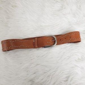Bcbgmaxazria Camel Tan Genuine Leather Belt
